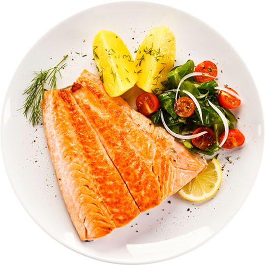 Try our amazing<br> Salmon